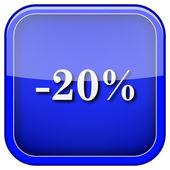 ícone de 20 por cento de desconto — Foto Stock