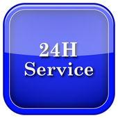 Icono de servicio 24h — Foto de Stock