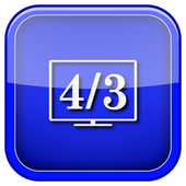 4 3 TV icon — Stock Photo
