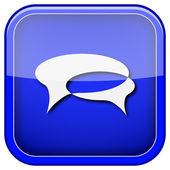 Chat bubbels pictogram — Stockfoto