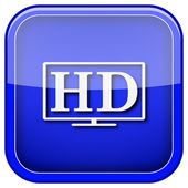 HD TV icon — Stock Photo