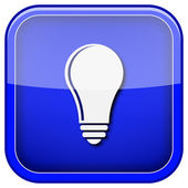 Bombilla - icono de idea — Foto de Stock