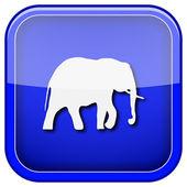 大象图标 — 图库照片