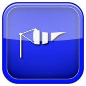 Wind flag icon — Stock Photo