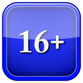 16 plus icon — Stock Photo