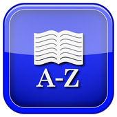 Icono de libro a-z — Foto de Stock