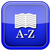 ícone de livro de a-z — Foto Stock