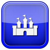 Zamek ikona — Zdjęcie stockowe