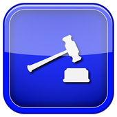 Icono de martillo de juez — Foto de Stock