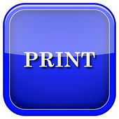 Print icon — Stock Photo