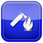 ícone de fogo — Foto Stock