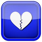 Brustet hjärta ikon — Stockfoto