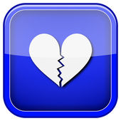 破碎的心的图标 — 图库照片