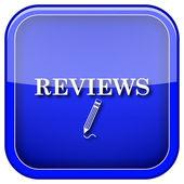 Reviews icon — Stock Photo