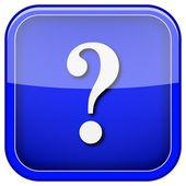 Soru işareti simgesi — Stok fotoğraf