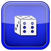 Dice icon — Stock Photo