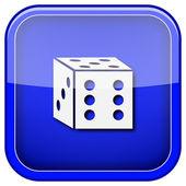 骰子图标 — 图库照片