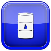 Oil barrel icon — Stockfoto