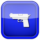 Gun icon — Stockfoto