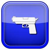 枪的图标 — 图库照片