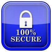 100% bezpieczne ikona — Zdjęcie stockowe