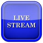 Live stream icon — Stock Photo