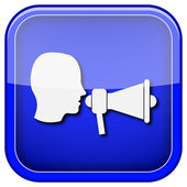 Megaphone icon — Stock Photo