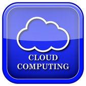 Cloud computing pictogram — Stockfoto