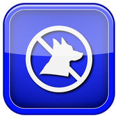 Forbidden dogs icon — Stock Photo