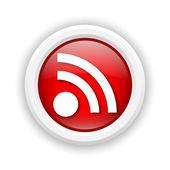 Rss-ikonen för tecken — Stockfoto