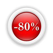 Icône de réduction de 80 pour cent — Photo
