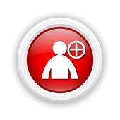 Add friend icon — Stock Photo