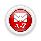 A-Z book icon — Stock Photo