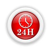 24H clock icon — Stock Photo
