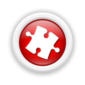Puzzle piece icon — Stock Photo