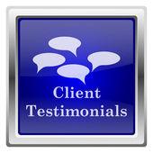 Icono de testimonios de clientes — Foto de Stock
