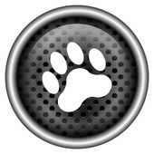 Paw print pictogram — Stockfoto