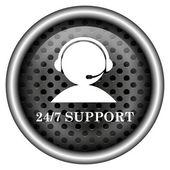Pictogram van 24-7 ondersteuning — Stockfoto