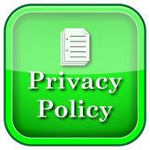 Ikona Polityka prywatności — Zdjęcie stockowe
