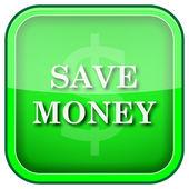 Guardar icono de dinero — Foto de Stock