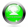 24-7 Support icon — Stock Photo #38352641