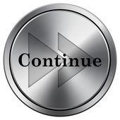 Continuer l'icône — Photo