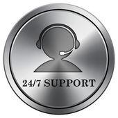 Icono de soporte 24 / 7 — Foto de Stock