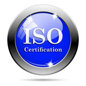 ISO certification icon — Foto Stock
