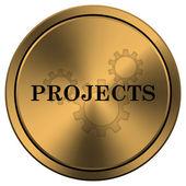 проекты значок — Стоковое фото
