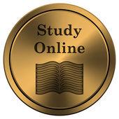 étude en ligne icône — Photo