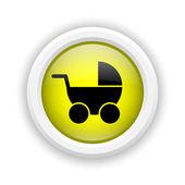 乳母車アイコン — ストック写真