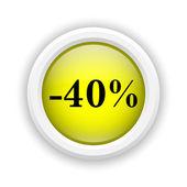 40 percent discount icon — Stock Photo