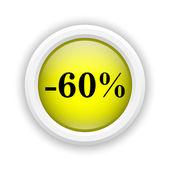 Ikona 60 % sleva — Stock fotografie