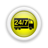24 7 delivery truck icon — Стоковое фото